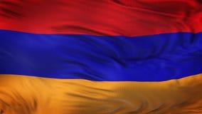 Fondo realista de la bandera de ARMENIA que agita Fotos de archivo