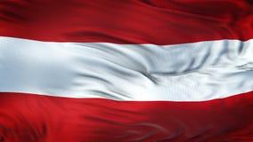 Fondo realista de la bandera de AUSTRIA que agita Fotografía de archivo libre de regalías