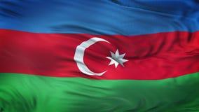 Fondo realista de la bandera de AZERBAIJAN que agita Foto de archivo