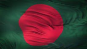 Fondo realista de la bandera de BANGLADESH que agita Foto de archivo