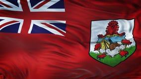Fondo realista de la bandera de BERMUDAS que agita Foto de archivo libre de regalías