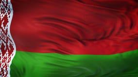 Fondo realista de la bandera de BIELORRUSIA que agita Fotografía de archivo libre de regalías