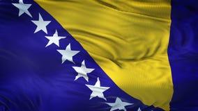 Fondo realista de la bandera de BOSNIA Y HERZEGOVINA que agita Fotos de archivo
