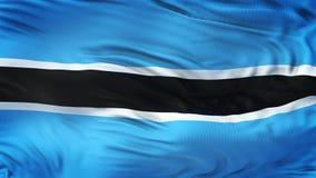Fondo realista de la bandera de BOTSWANA que agita Foto de archivo libre de regalías