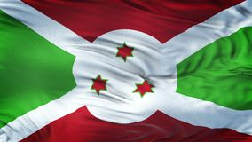 Fondo realista de la bandera de BURUNDI que agita Imagenes de archivo