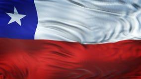 Fondo realista de la bandera de CHILE que agita Imágenes de archivo libres de regalías