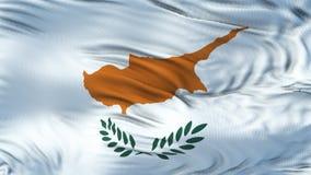 Fondo realista de la bandera de CHIPRE que agita Imágenes de archivo libres de regalías