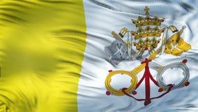 Fondo realista de la bandera de la CIUDAD DEL VATICANO que agita Imagen de archivo libre de regalías