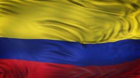 Fondo realista de la bandera de COLOMBIA que agita Imagen de archivo