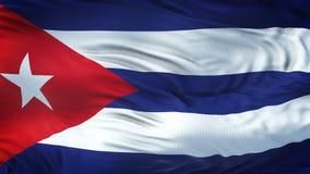 Fondo realista de la bandera de CUBA que agita Imagen de archivo libre de regalías