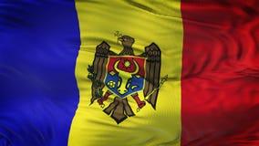 Fondo realista de la bandera del MOLDAVIA que agita Fotografía de archivo