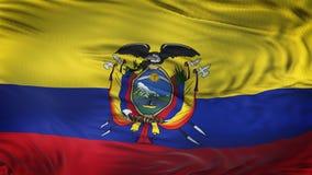 Fondo realista de la bandera de ECUADOR que agita Foto de archivo