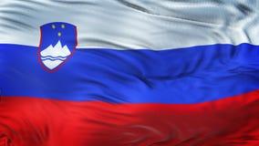 Fondo realista de la bandera de ESLOVENIA que agita Foto de archivo