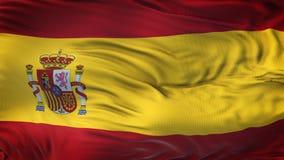 Fondo realista de la bandera de ESPAÑA que agita Fotografía de archivo libre de regalías