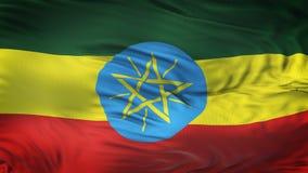 Fondo realista de la bandera de ETIOPÍA que agita Imagenes de archivo