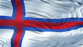 Fondo realista de la bandera de FAROE ISLAND que agita Imagenes de archivo
