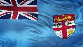 Fondo realista de la bandera de FIJI que agita Fotografía de archivo libre de regalías