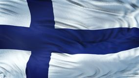 Fondo realista de la bandera de FINLANDIA que agita Imagen de archivo