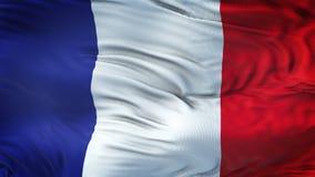 Fondo realista de la bandera de FRANCIA que agita Fotografía de archivo