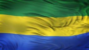 Fondo realista de la bandera de GABÓN que agita Foto de archivo