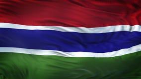 Fondo realista de la bandera de GAMBIA que agita Imagen de archivo