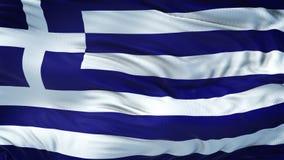 Fondo realista de la bandera de GRECIA que agita Foto de archivo