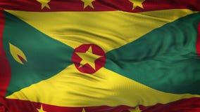 Fondo realista de la bandera de GRENADA que agita Imagen de archivo
