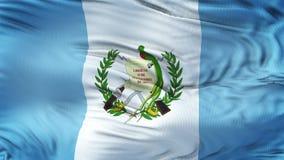 Fondo realista de la bandera de GUATEMALA que agita Foto de archivo