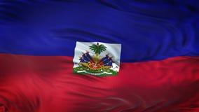 Fondo realista de la bandera de HAITÍ que agita Fotos de archivo