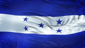 Fondo realista de la bandera de HONDURAS que agita Fotografía de archivo