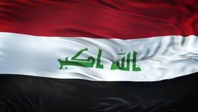 Fondo realista de la bandera de IRAQ que agita Foto de archivo