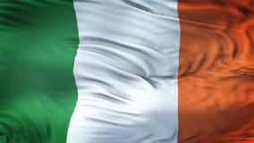 Fondo realista de la bandera de IRLANDA que agita Fotografía de archivo