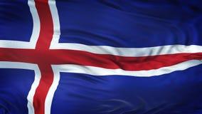 Fondo realista de la bandera de ISLANDIA que agita Foto de archivo libre de regalías