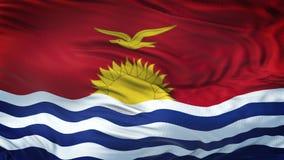 Fondo realista de la bandera de KIRIBATI que agita Fotografía de archivo