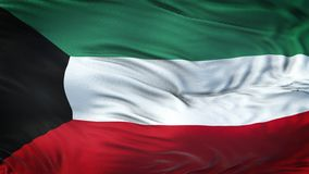 Fondo realista de la bandera de KUWAIT que agita Imagen de archivo libre de regalías