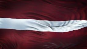 Fondo realista de la bandera de LETONIA que agita Foto de archivo libre de regalías