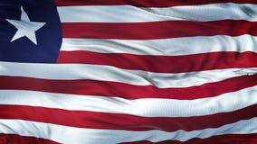 Fondo realista de la bandera de LIBERIA que agita Fotos de archivo libres de regalías