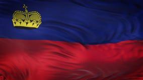 Fondo realista de la bandera de LIECHTENSTEIN que agita Fotografía de archivo libre de regalías
