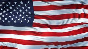 Fondo realista de la bandera de los E.E.U.U. que agita Imagen de archivo libre de regalías