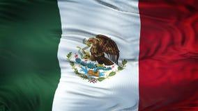 Fondo realista de la bandera de MÉXICO que agita Fotografía de archivo