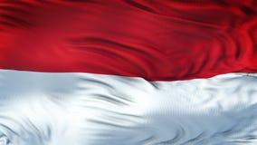 Fondo realista de la bandera de MÓNACO que agita Imágenes de archivo libres de regalías