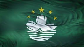 Fondo realista de la bandera de MACAO que agita Fotografía de archivo