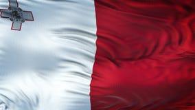 Fondo realista de la bandera de MALTA que agita Fotografía de archivo libre de regalías