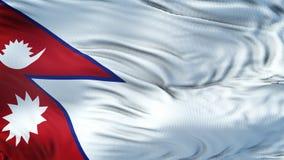 Fondo realista de la bandera de NEPAL que agita Imagen de archivo libre de regalías