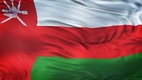 Fondo realista de la bandera de OMÁN que agita Foto de archivo libre de regalías