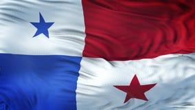 Fondo realista de la bandera de PANAMÁ que agita Imágenes de archivo libres de regalías