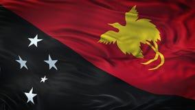 Fondo realista de la bandera de PAPÚA NUEVA GUINEA que agita Imagen de archivo