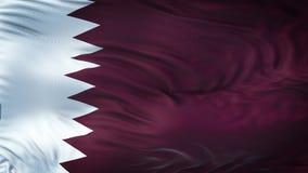 Fondo realista de la bandera de QATAR que agita Fotografía de archivo