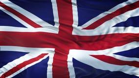 Fondo realista de la bandera de REINO UNIDO que agita Imagen de archivo libre de regalías
