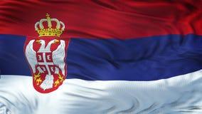 Fondo realista de la bandera de SERBIA que agita Imagen de archivo